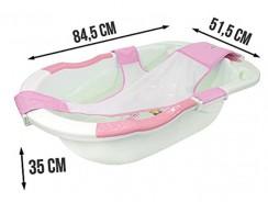 La baignoire Baby Plouf Evolution de Monsieur Bébé, un accessoire complet.